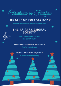 City of Fairfax Band Holiday Concert with Fairfax Choral Society