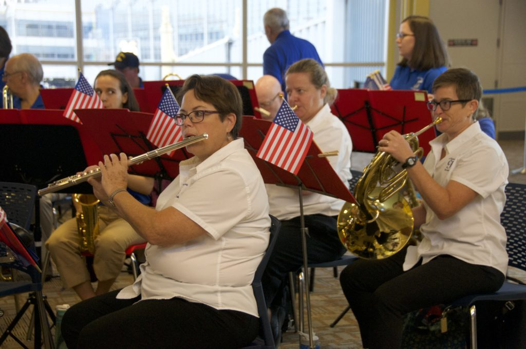 Flutes and Horns at Honor Flight DCA