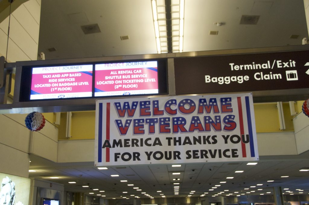 Welcome Veterans at Honor Flight DCA