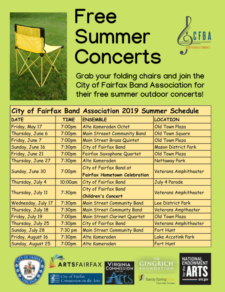 Download Our Summer Concert Schedule