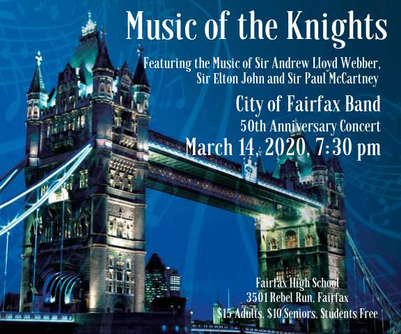 CFB March 2020 Music of the Knights Poster